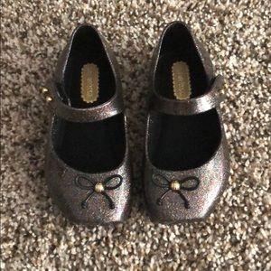 Mini Melissa Brown Sparkle Shoes